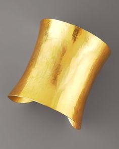 Wide Solid Cuff by Herve Van Der Straeten at Bergdorf Goodman.