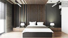 Loftowa sypialnia w męskim stylu - zdjęcie od Kwadrat Design Studio - homebook