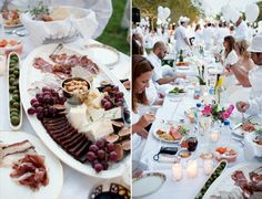 """""""We hit farmers markets, gourmet shops, and wine stores for the finest comestibles and champagne."""" - 513{eats}  Check out this 513{eats} blog post for many gorgeous photos of the 2012 Cincinnati Diner en Blanc evening!"""