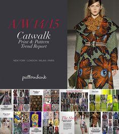 Catwalk Print & Pattern Trend Report Autumn/Winter 2014/15 PDF Download trend forecasts catwalks