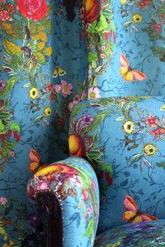 Timorous Beasties Fabric - Bloomsbury Garden Fabric  Do Chair and stool?
