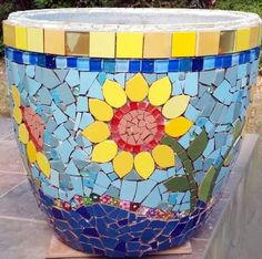 mosaic planters pots - Google Search                                                                                                                                                     More