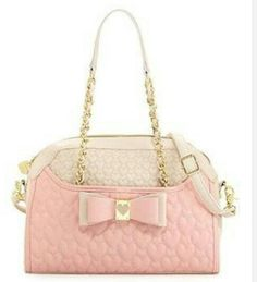 Betsey Johnson Handbag Be My Honey Buns Dome Satchel Shoulder bag Blush pink Mode Rose, My Wallet, Mk Bags, Valentino Rockstud, Old Hollywood Glamour, Kinds Of Shoes, Fancy Pants, Everyday Fashion, Purses And Bags