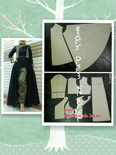 Gamis Easy Sewing Patterns, Clothing Patterns, Dress Patterns, Sewing Crafts, Sewing Projects, Muslim Dress, Wedding Show, Top Pattern, Sewing Clothes
