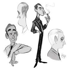 ArtStation - Sketches, Luigi Lucarelli Character Design Cartoon, Character Sketches, Character Design Animation, Character Illustration, Character Art, Cartoon Design, Character Inspiration, Figure Drawing Models, Human Figure Drawing
