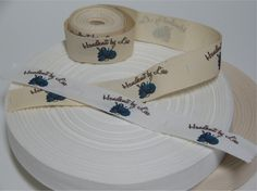 Your Custom Labels Printed in Full Color on Organic Cotton Twill Ribbon  - No Extra Charge for Proof - 2 Yards by MommieMadeIt on Etsy https://www.etsy.com/listing/76494569/your-custom-labels-printed-in-full-color