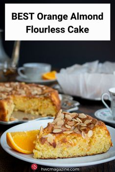 BEST ORANGE ALMOND FLOURLESS CAKE is a super moist, lightly sweet GLUTEN-FREE Spanish cake made with whole oranges and orange peel. Gluten-free and only 5 ingredients make this cake perfect for gatherings and even as a breakfast treat. Gluten Free Cakes, Gluten Free Desserts, Gluten Free Recipes, Dessert Recipes, Cake Recipes, Gluten Free Almond Cake, Flourless Desserts, Flourless Cake, Flourless Orange Cake