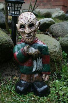 Freddie Kruger Yard Gnome