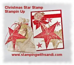 Christmas Star single stamp Gift Set, I shared details on how to create these here:  http://stampingwithsandi.com/christmas-star-single-stamp-stampin-up/
