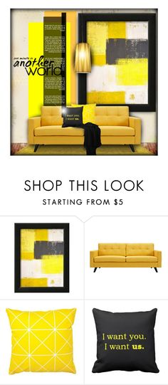 """""""Bumble-Bee Palette - Home"""" by nonniekiss ❤ liked on Polyvore featuring interior, interiors, interior design, home, home decor, interior decorating, Trilogy, Dot & Bo and Fambuena"""