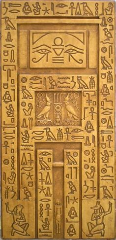 False Door- Egyptian Wall with heiroglyphs