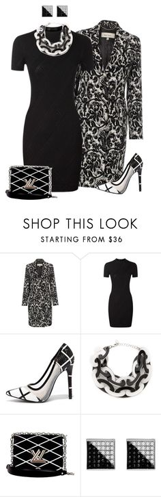 """""""Untitled #295"""" by starlightdoh ❤ liked on Polyvore featuring Paul Smith, Versace, Shoe Republic LA, Adia Kibur and Louis Vuitton"""