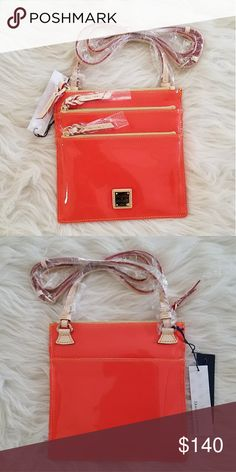 "North/South Triple Zip Crossbody Clementine North/South Triple Zip Crossbody Patent Leather Clementine H: 8.25"" L: 8.25"" W: .25"" Strap drop: 24"" Lined Dooney & Bourke Bags Crossbody Bags"
