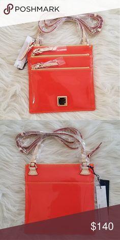 "North/South Triple Zip Crossbody Clementine North/South Triple Zip Crossbody Patent Leather Clementine H: 8.25"" L: 8.25"" W: .25"" Strap drop: 24"" Lined Dooney & Bourke Bags Crossbody Bags"