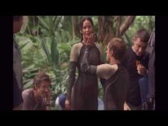Josh Hutcherson & Jennifer Lawrence ( behind the scenes of CF) - YouTube