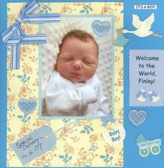 ideas baby shower scrapbook: A Baby shower is one of the most important events inside a mother's life, and of course she'll want to find orginal baby shower scrapbooking layouts to capture her memories. Baby shower scrapbooking layouts are ideal for remembering those cute presents and visits by relatives and friends!