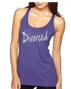 85106633eb5eb Women s Tank Top Divorced Glitter Silver Print Fun Single Top · Purple  DrinksWine DrinksRacerback ...