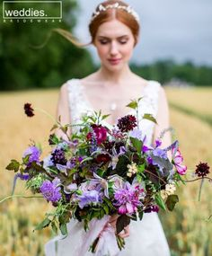 Bouquet Flowers Bride Bridal Large Lilac Wild Ribbon Natural Ethereal Purple Wedding www. Purple Wedding Bouquets, Lilac Wedding, Bride Bouquets, Bridal Flowers, Bridesmaid Bouquet, Floral Wedding, Wedding Colors, Bouquet Flowers, Greenery Bouquets