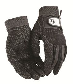 HJ Glove Men's Black Weather Ready Rain Golf Glove, Large, Pair by HJ Glove. $15.75. HJ Glove's Weather Ready Rain Pair is an all weather golf glove. It is made of high-performance micro-suede palm with silicone. This unique honeycomb silicone provides excellent grip in all weather conditions. The mesh back dries quickly perfect for rain.