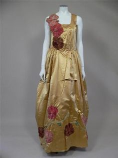 Stunning Edwardian Silk Dress Worn to The Devonshire House Ball   eBay