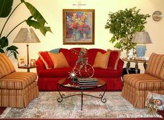 Positive energy -red! Designed by Lena Kroupnik interiors. www.lenakroupnikinteriors.com