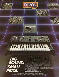 Moog retro synth ads