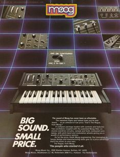Moog retro synth ads