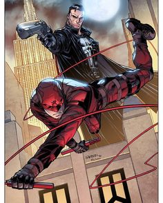 Daredevil and Punisher by Carlo Barberi