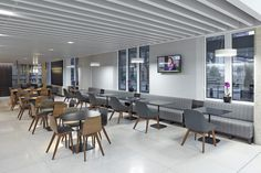 The new interior for QEII Conference Centre by SHH Architects and AHMM Architects showcases some great Zeitraum pieces - including the Morph, Morph bar, Morph Dining and Morph Lounge.