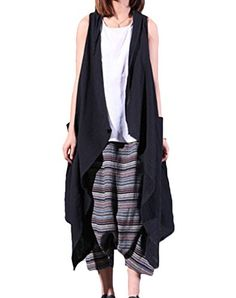 Minibee Cotton Linen Cardigan Summer Long Vest Two Side Pockets Black Minibee http://www.amazon.com/dp/B00YGIL2AE/ref=cm_sw_r_pi_dp_tSXNvb1NFTRC5