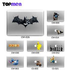 Cool Batman, Iron Man, Kung Fu Panda, Stitch, Wall-E, Minion, etc  skin for Macbook Pro