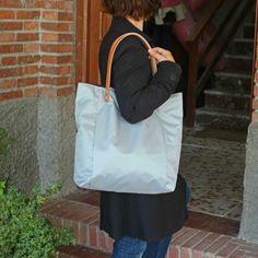 Bolsos de asa larga -  Bolso shopping bag impermeable - Gris - Maxibolso - hecho a mano por LoLahn-Handmade en DaWanda