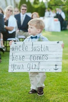 Uncle justin here comes your girl sign