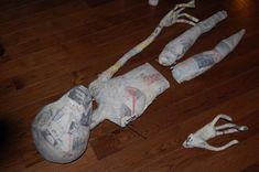 Alien Halloween Props | Static: My Paper Mache Alien is quickly evolving