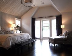 Master Bedroom of East Hampton residence by MARTIN RAFFONE interior design.  Sourced entirely from catalogs!