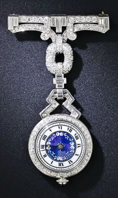Art Deco Diamond Lady's Lapel Watch