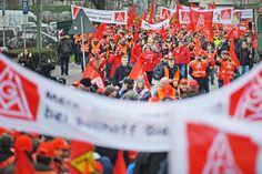 Aktionen am Mittwoch bei Mannesmann in Bielefeld und bei Gilbarco in Salzkotten +++  Tages-Warnstreiks der IG Metall in OWL