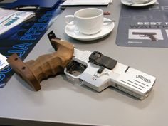 Walther SSP-E .22lr Target Pistol with Electronic Trigger. The only production pistol I've ever seen with a USB port. Typically used in Olympic/ISSF 25m rapid fire target competition.