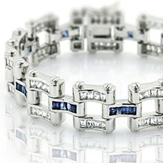 "Men's Sterling Silver .925 Original design Bracelet with 132 fancy color and white Cubic Zirconia (CZ) Stones and Box Lock, Platinum Plated. Sizes available 8"" 9"" Fash Jewels http://fashjewels.com/product/mens-sterling-silver-925-original-design-bracelet-with-132-fancy-color-and-white-cubic-zirconia-cz-stones-and-box-lock-platinum-plated-sizes-available-8-9/  Price: & FREE Shipping  #fashionjewely"