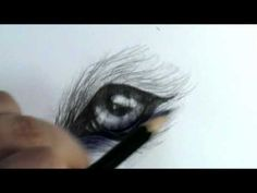 ▶ How to draw a wolf eye - YouTube