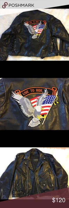 1980's men's leather Harley jacket In amazing condition! Feel free to ask questions. Unik Jackets & Coats Performance Jackets