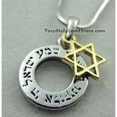 Shema Israel Necklace with Star of David By YourHolyLandStore, (david, jewish, judaism, yourholylandstore)
