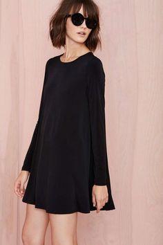 vestido negro mangas