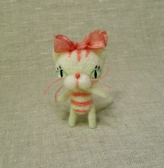 Tiny Vanilla Cupcake Kitty MadeToOrder by violetpi on Etsy