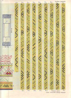 Livanu villaines raksti. (Latvian ethnographic designs on shawls from Livani).