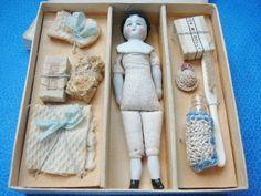 German China Doll Toilet Set in Original Box