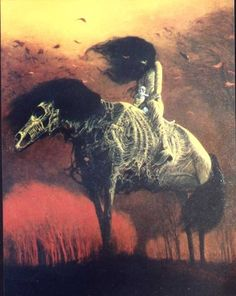 """the-nightmare-factory: """" Zdzislaw Beksinski - an incredibly talented surrealist painter; who, most surprisingly, had absolutely no formal training in art whatsoever. I adore his work - dark &. Arte Horror, Horror Art, Dark Fantasy Art, Artist Painting, Painting & Drawing, Art Sinistre, Art Noir, Creepy Art, Monsters"""