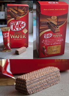 Gran Wafer Kit Kat from Japan Chocolate Tumblr, Cadbury Chocolate, Best Chocolate Cake, I Love Chocolate, Chocolate Ice Cream, Chocolate Gifts, Chocolate Lovers, Little Mix, Kit Kat Flavors