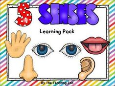 Five Senses Theme Learning Pack by The Teaching Zoo Preschool Body Theme, Five Senses Preschool, My Five Senses, Theme Anchor Charts, Teen Art, Kindergarten Learning, Cover Pages, Pre School, Toddler Activities