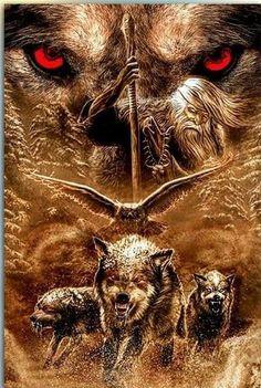 Embrace - Famous Last Words Tribal Wolf Tattoo, Wolf Tattoo Sleeve, Wolf Tattoo Design, Tattoo Designs, Fantasy Wolf, Dark Fantasy Art, Grand Chat, Wolf Artwork, Wolf Spirit Animal